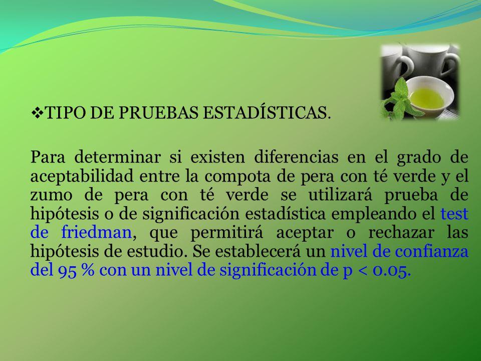 TIPO DE PRUEBAS ESTADÍSTICAS.