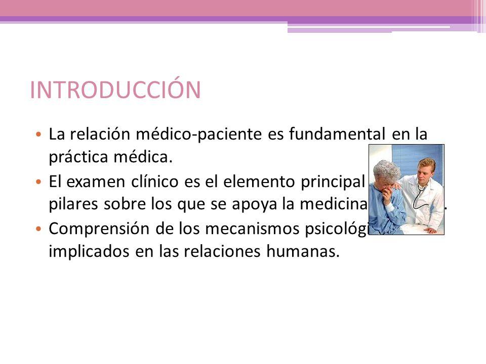 INTRODUCCIÓN La relación médico-paciente es fundamental en la práctica médica.