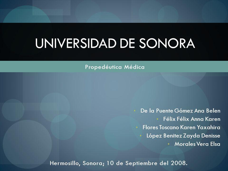 Hermosillo, Sonora; 10 de Septiembre del 2008.