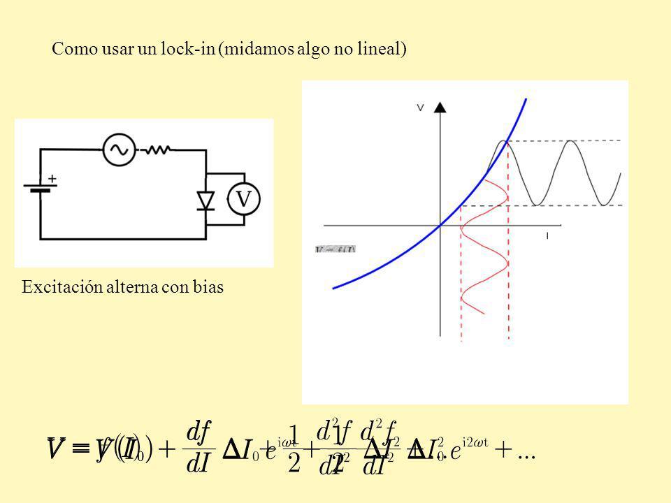 Como usar un lock-in (midamos algo no lineal)