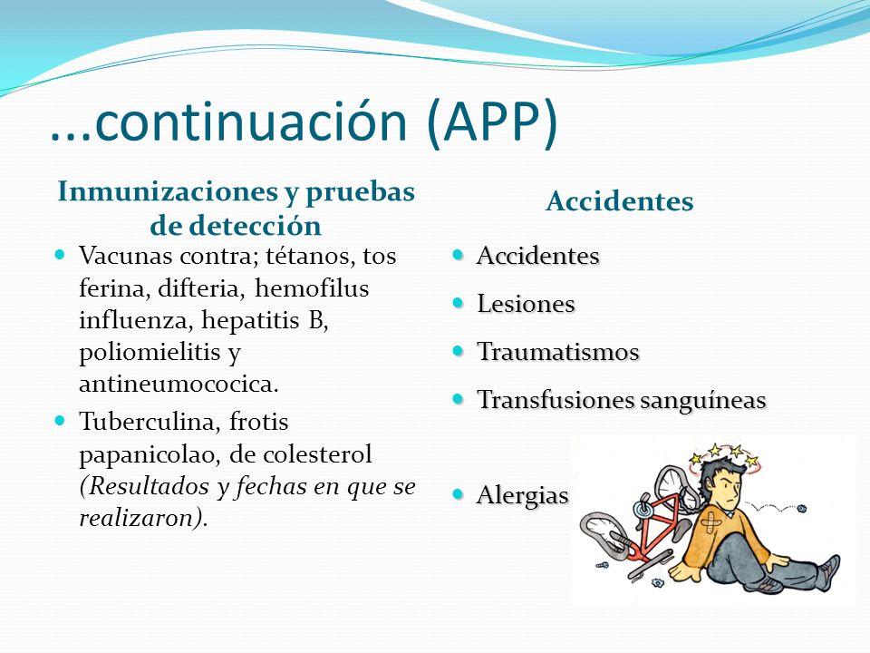 Inmunizaciones y pruebas de detección