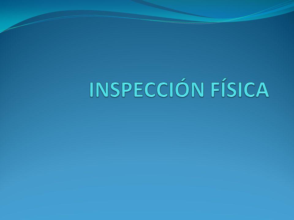 INSPECCIÓN FÍSICA