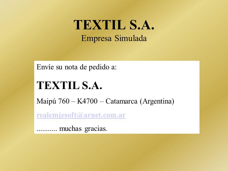 TEXTIL S.A. Empresa Simulada