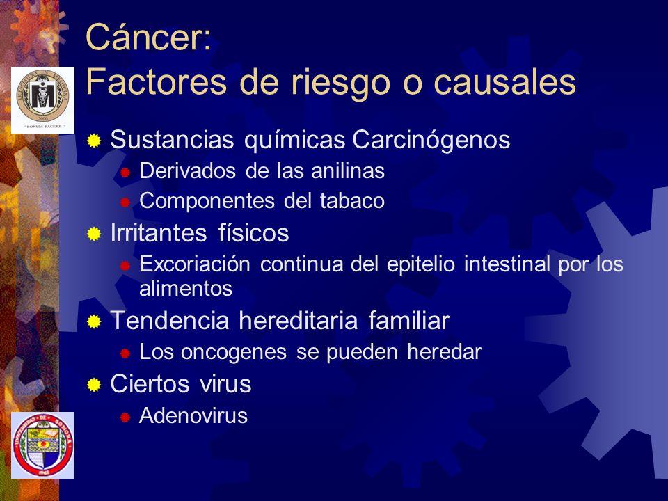 Cáncer: Factores de riesgo o causales