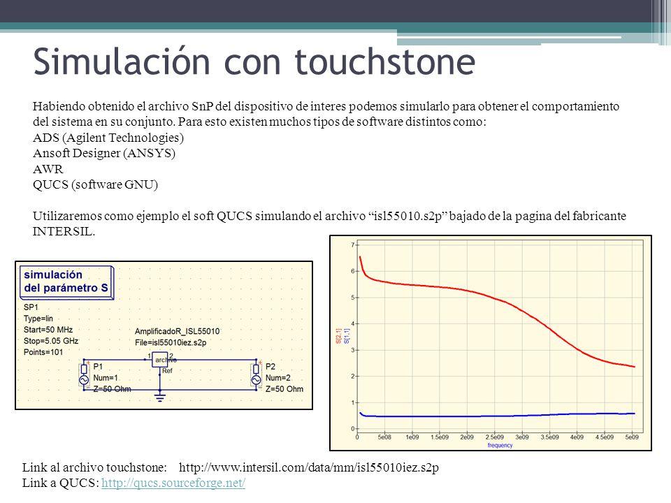 Simulación con touchstone