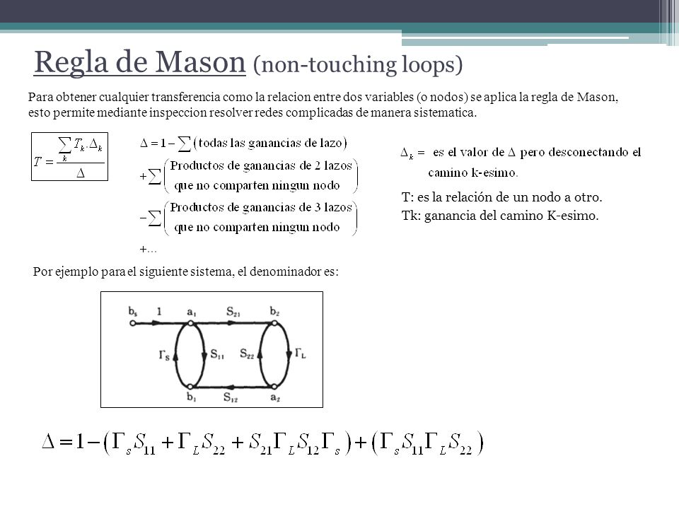 Regla de Mason (non-touching loops)