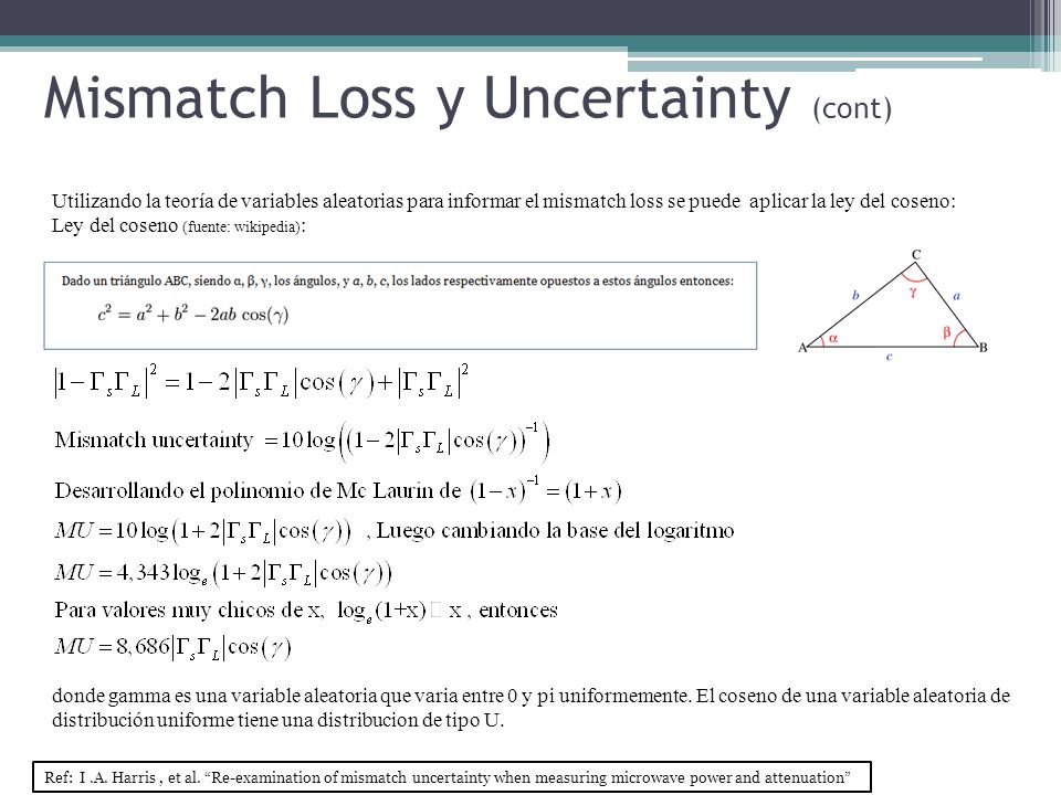 Mismatch Loss y Uncertainty (cont)