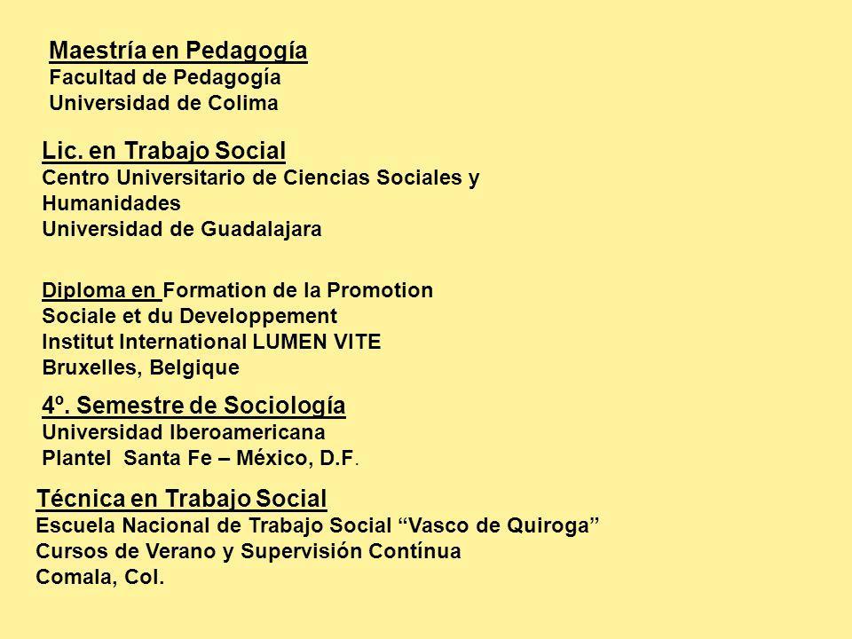 4º. Semestre de Sociología