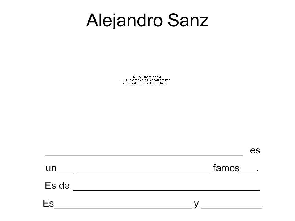 Alejandro Sanz ____________________________________ es