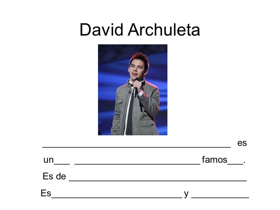 David Archuleta ____________________________________ es