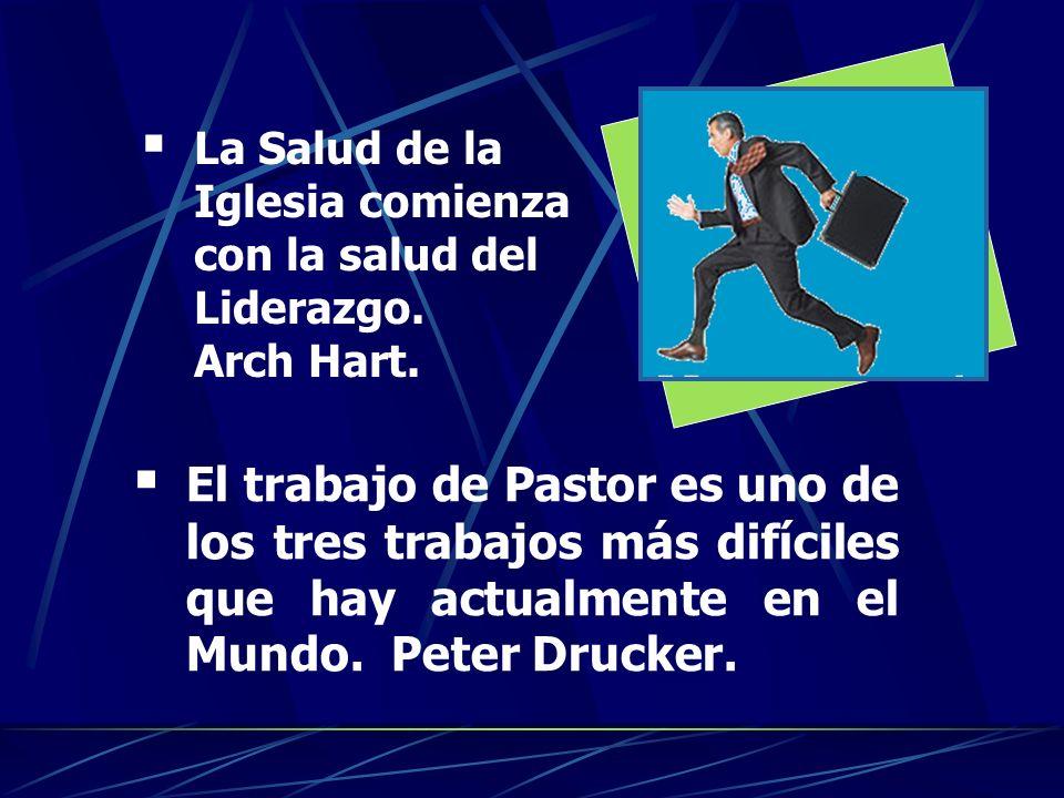 La Salud de la Iglesia comienza con la salud del Liderazgo. Arch Hart.