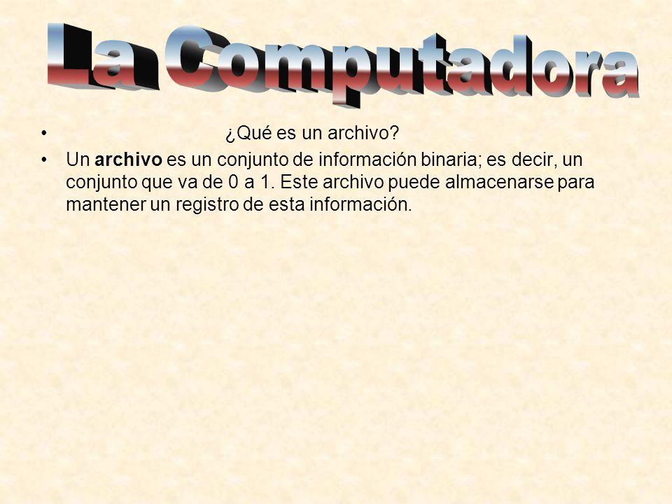 La Computadora ¿Qué es un archivo