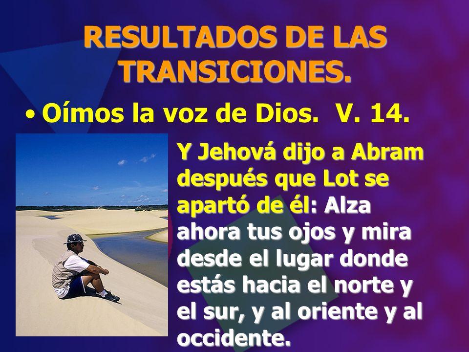 RESULTADOS DE LAS TRANSICIONES.