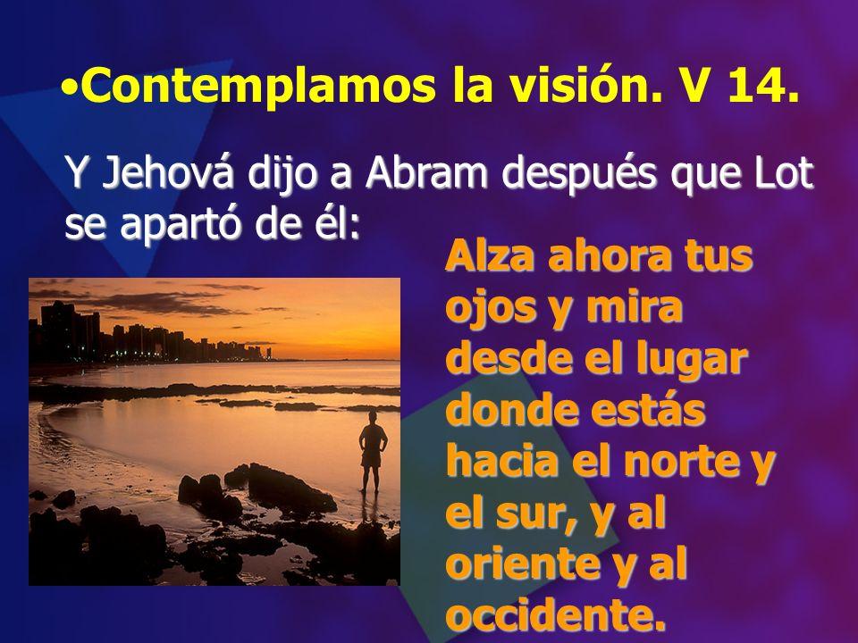 Contemplamos la visión. V 14.