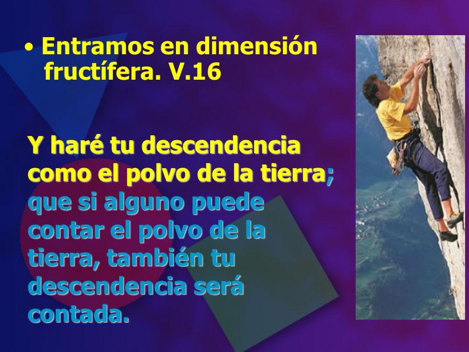 Entramos en dimensión fructífera. V.16