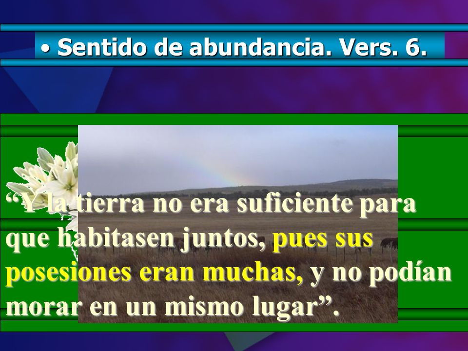 Sentido de abundancia. Vers. 6.