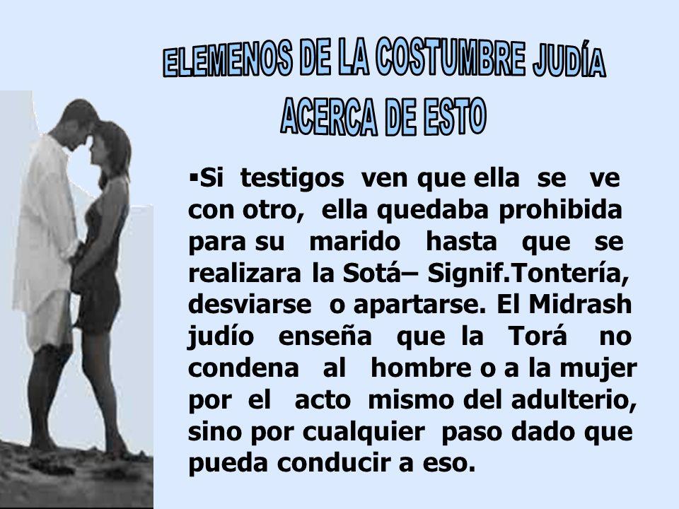 ELEMENOS DE LA COSTUMBRE JUDÍA