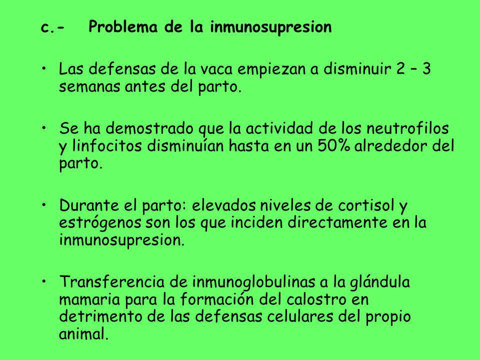 c.- Problema de la inmunosupresion