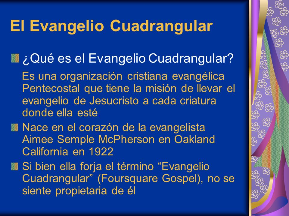 El Evangelio Cuadrangular