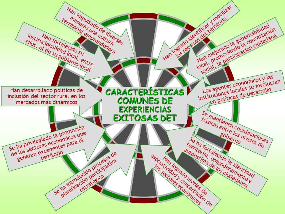 CARACTERÍSTICAS COMUNES DE EXPERIENCIAS EXITOSAS DET