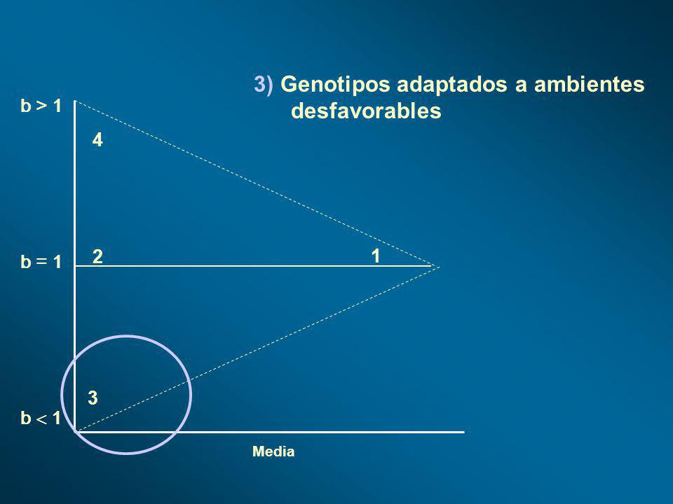 3) Genotipos adaptados a ambientes desfavorables