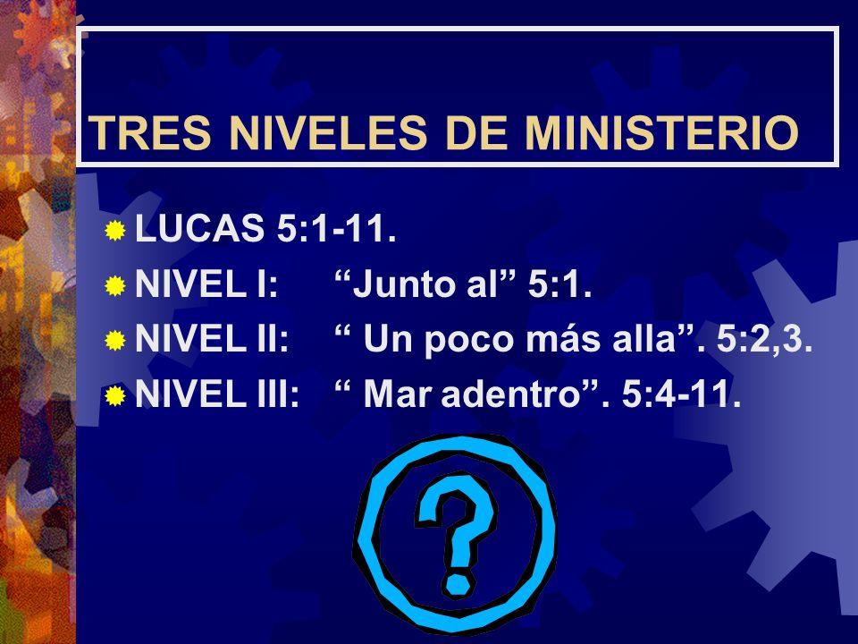 TRES NIVELES DE MINISTERIO