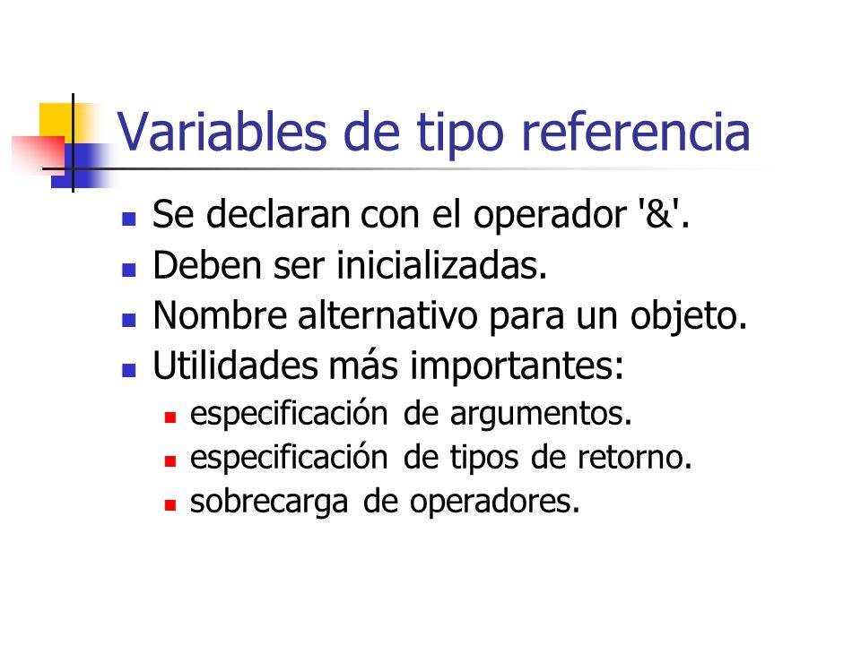 Variables de tipo referencia