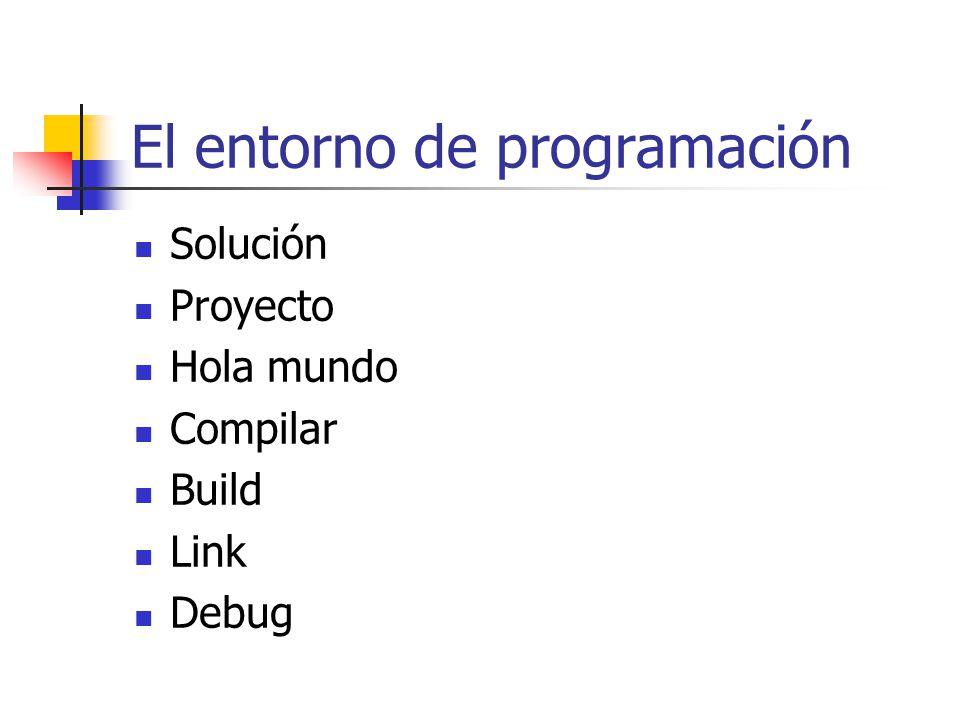 El entorno de programación