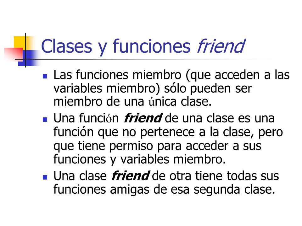 Clases y funciones friend