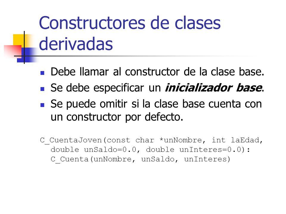Constructores de clases derivadas