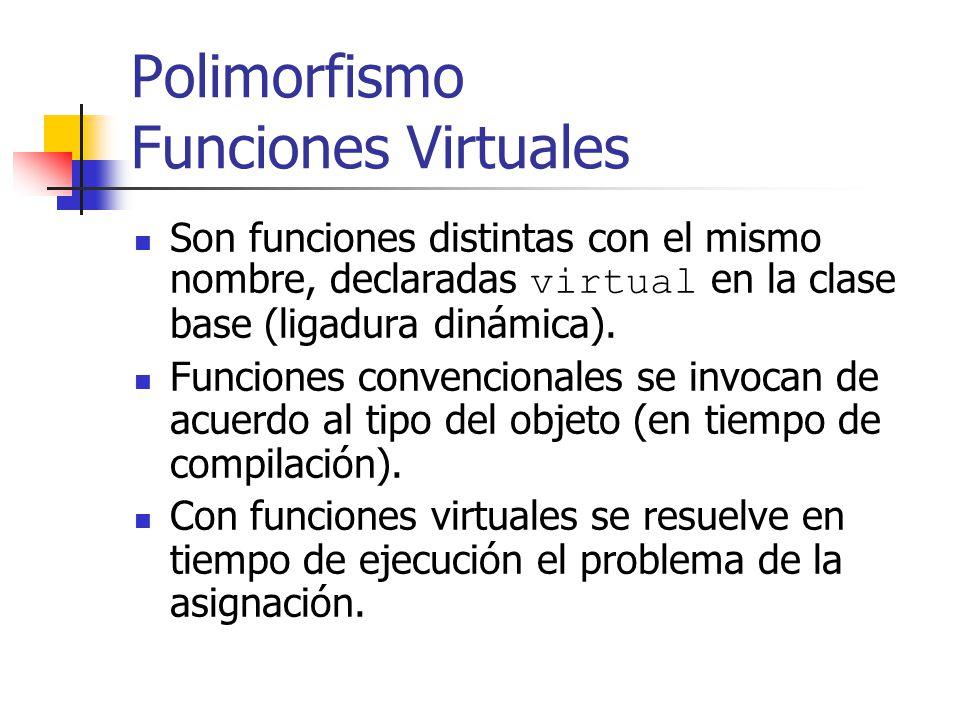 Polimorfismo Funciones Virtuales