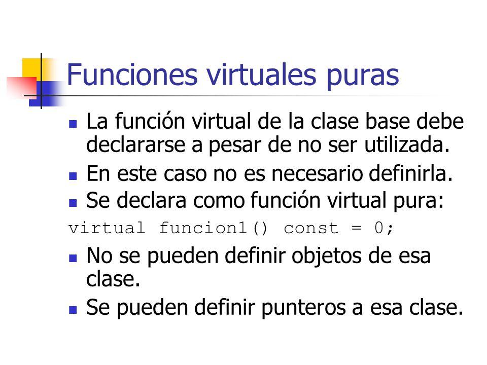 Funciones virtuales puras