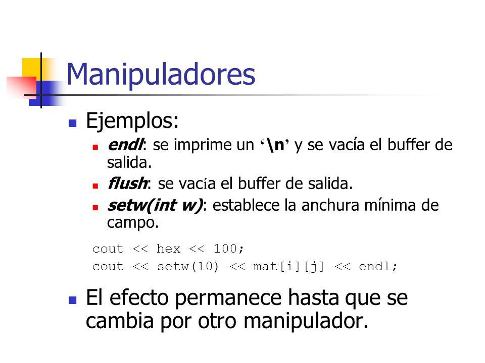 Manipuladores Ejemplos: