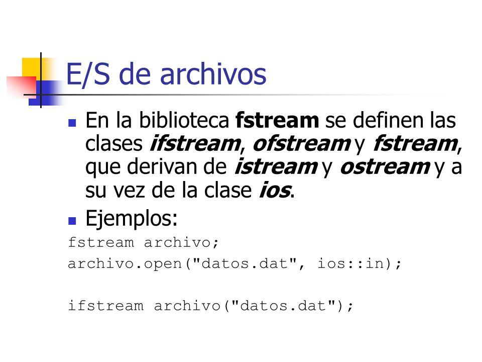 E/S de archivos