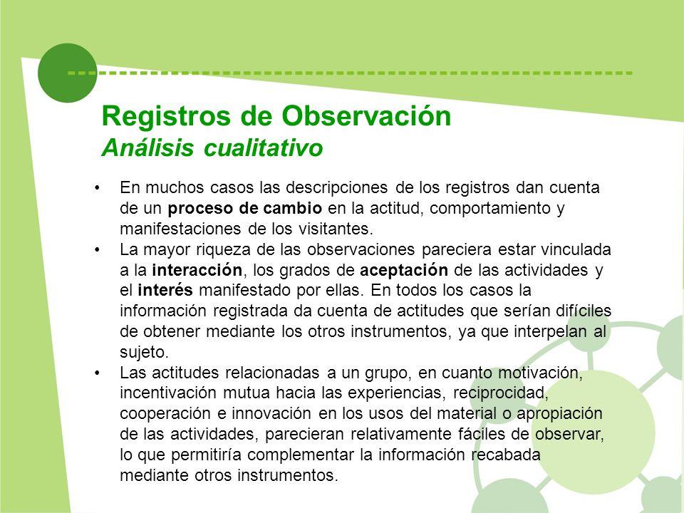 Registros de Observación