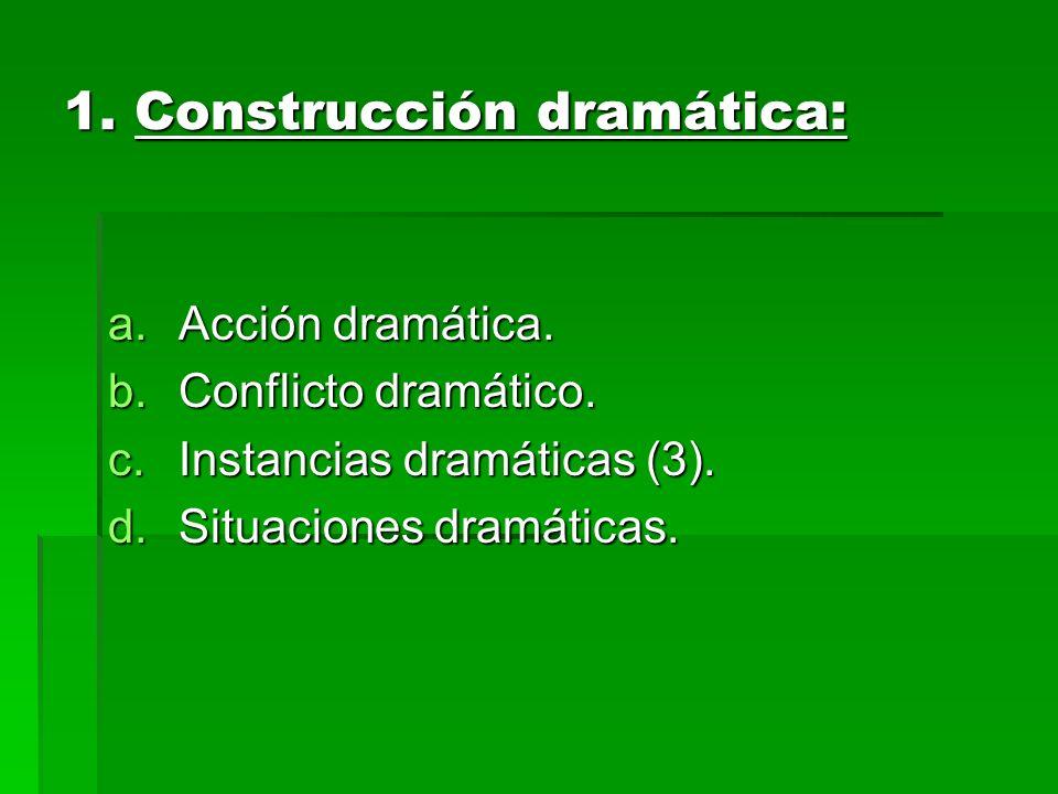 1. Construcción dramática: