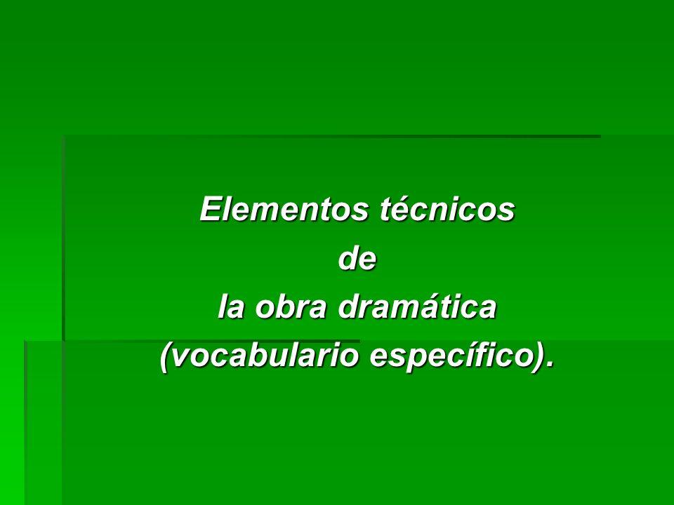 (vocabulario específico).