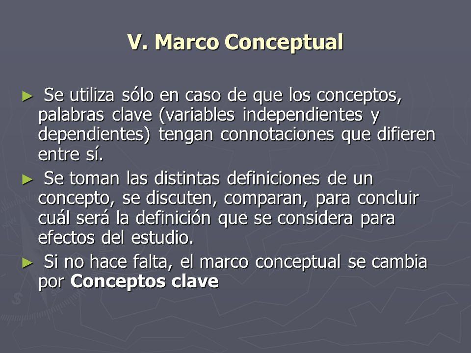 V. Marco Conceptual