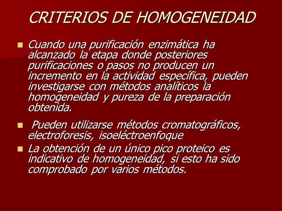 CRITERIOS DE HOMOGENEIDAD