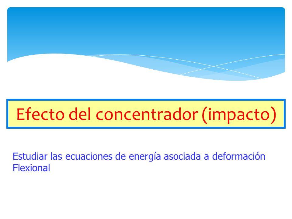Efecto del concentrador (impacto)