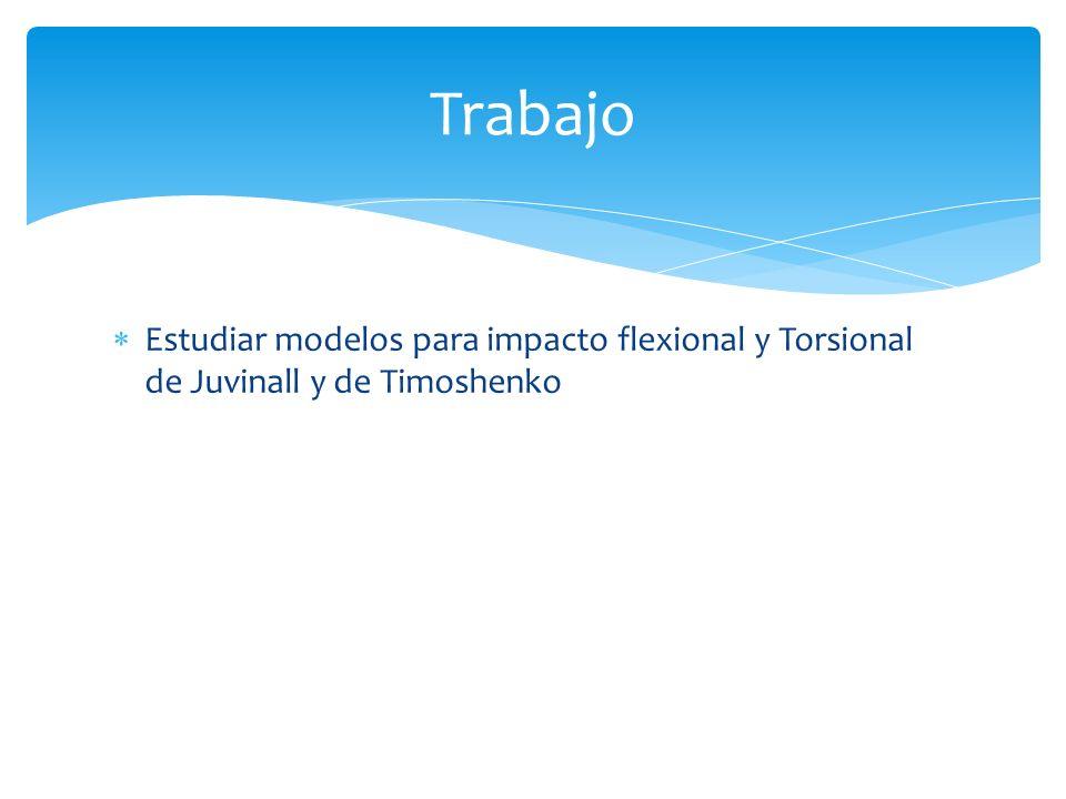 Trabajo Estudiar modelos para impacto flexional y Torsional de Juvinall y de Timoshenko