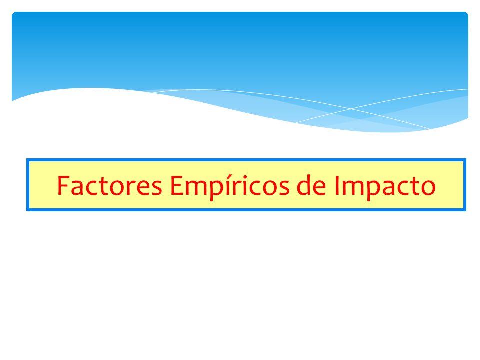 Factores Empíricos de Impacto