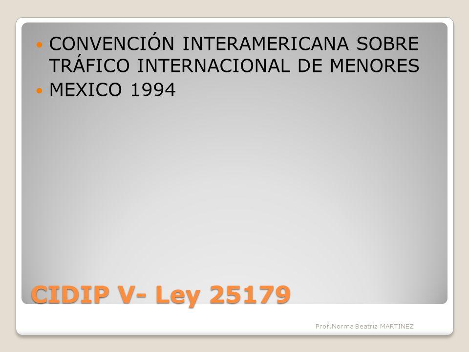 CONVENCIÓN INTERAMERICANA SOBRE TRÁFICO INTERNACIONAL DE MENORES