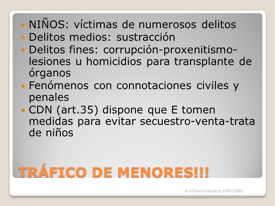 TRÁFICO DE MENORES!!! NIÑOS: víctimas de numerosos delitos