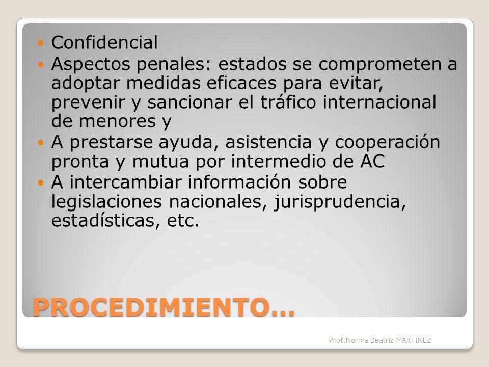 PROCEDIMIENTO… Confidencial
