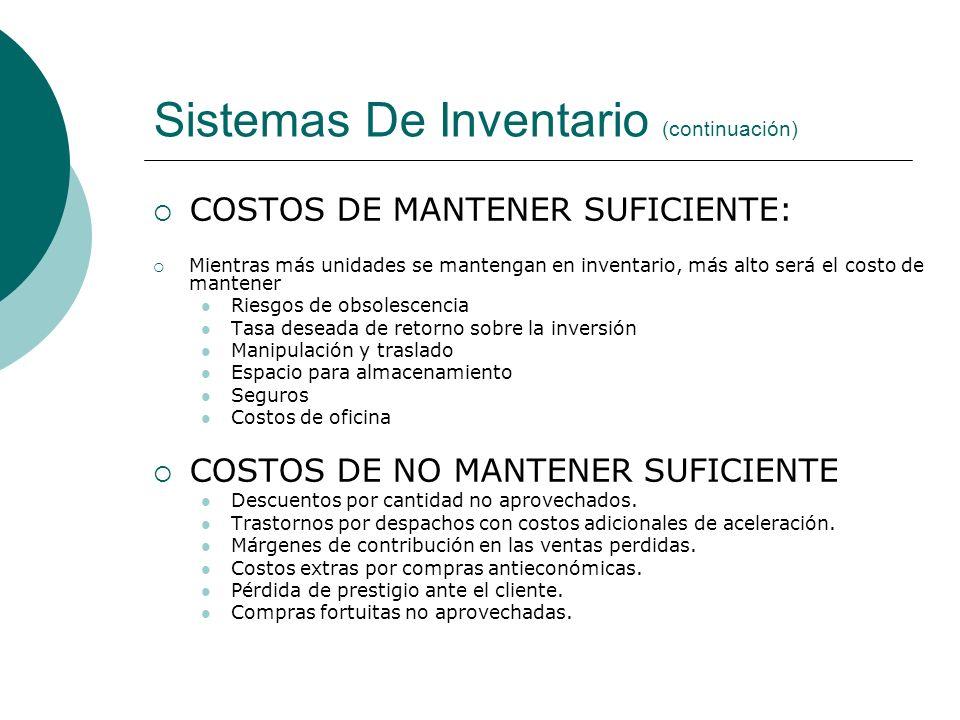 Sistemas De Inventario (continuación)