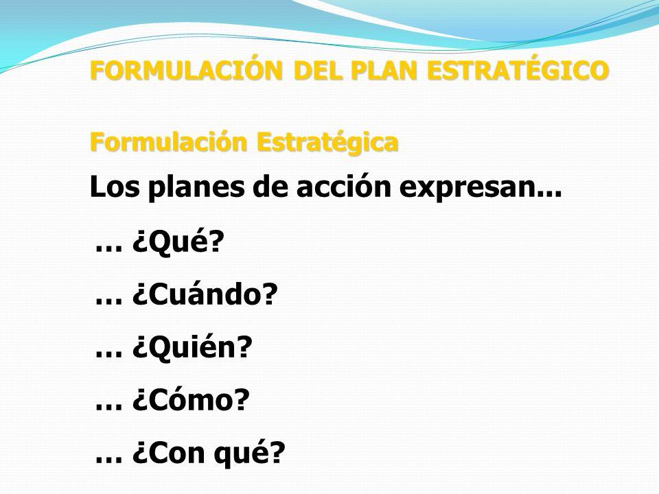 Los planes de acción expresan...