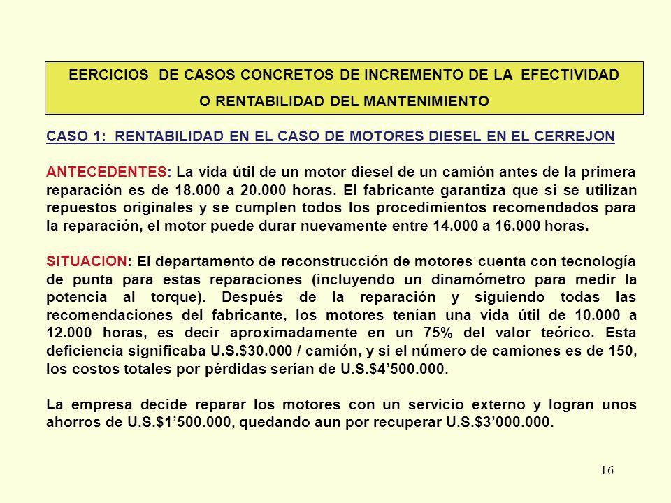 EERCICIOS DE CASOS CONCRETOS DE INCREMENTO DE LA EFECTIVIDAD