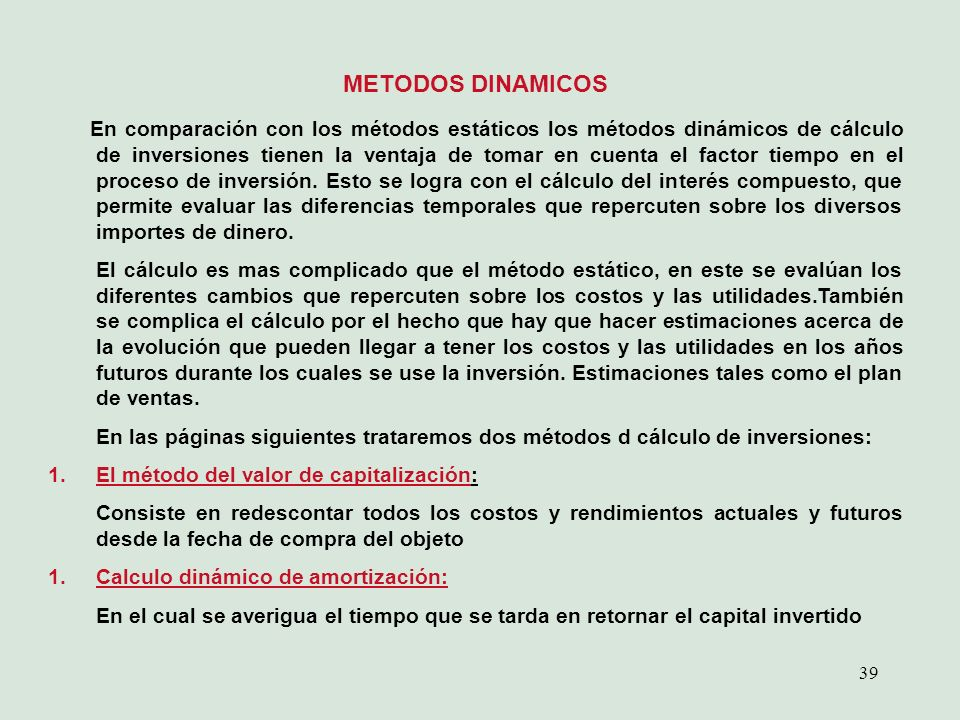 METODOS DINAMICOS