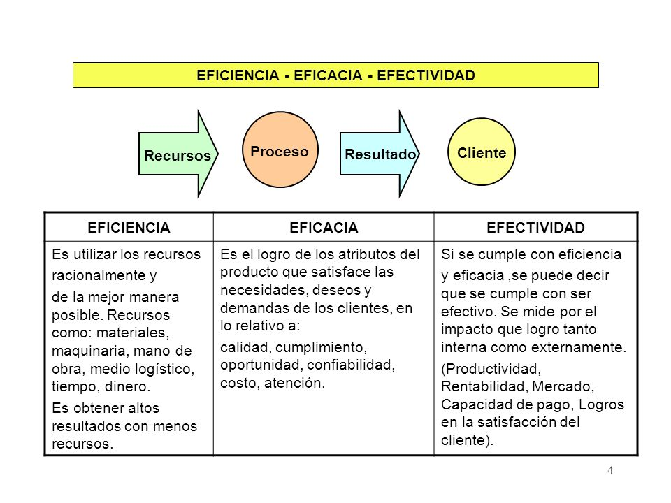EFICIENCIA - EFICACIA - EFECTIVIDAD